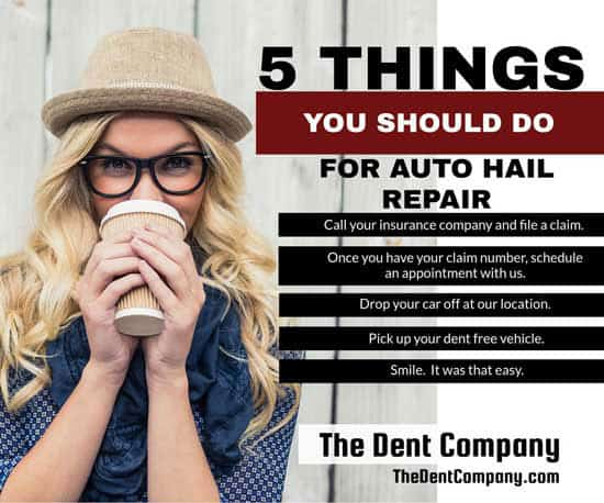 5 things you should do for Auto Hail Repair.
