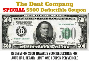 Auto hail repair estimate save $500
