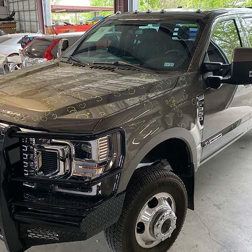 Lake Hills Car Hail Damage